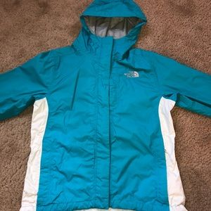 Blue North Face Windbreaker